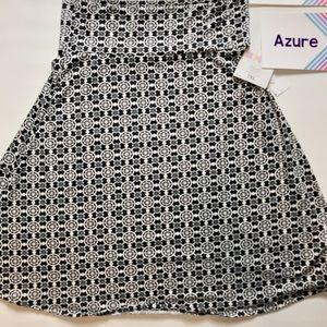 Azure skirt New black and white